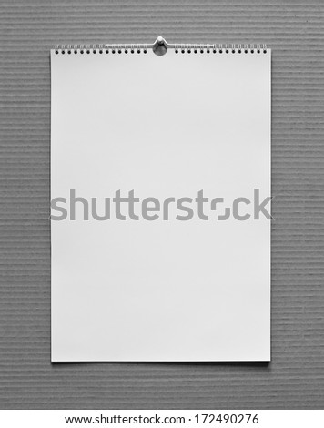 Photo. Blank wall calendar with spring on a texture background - stock photo