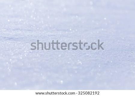 Photo blue snow - stock photo