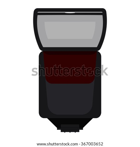 Photo Camera Flash. Raster version. Illustration isolated on white background. - stock photo