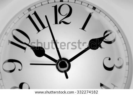 Photo clock face. Close-up - stock photo