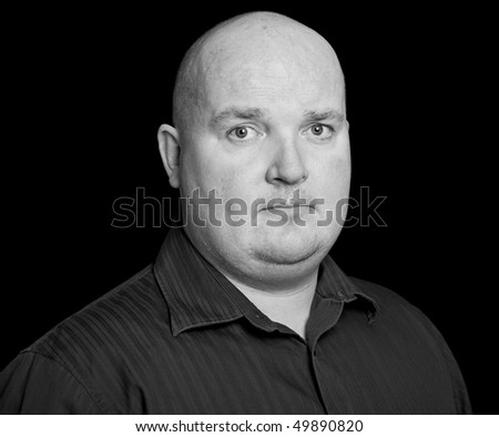 photo close up picture portrait of an overweight male