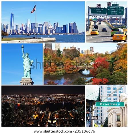 Photo collage of New York - stock photo