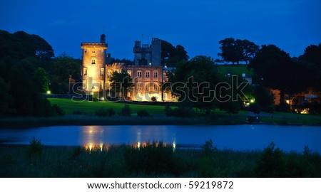 photo famous irish castle hotel,west coast ireland - stock photo