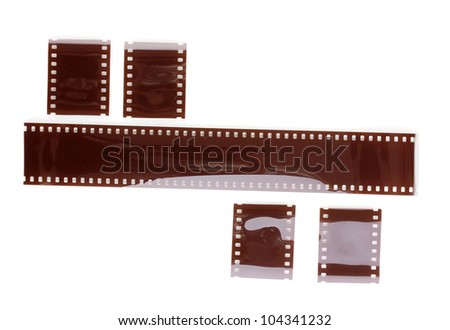 Photo film isolated on white