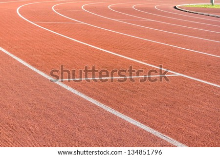 Photo finish for a running race - stock photo