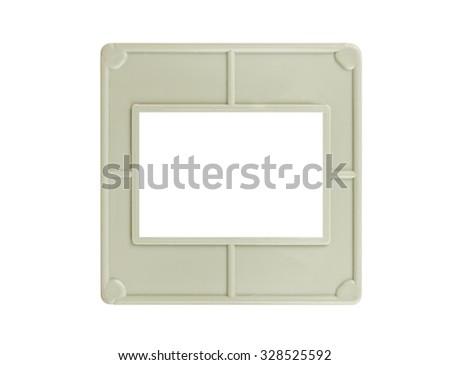 Photo frame for slide isolated on white background - stock photo
