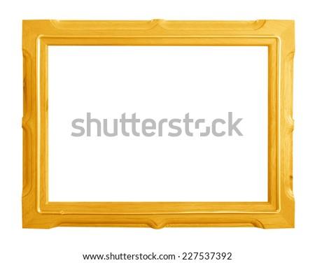 Photo frame isolated on a white background. - stock photo