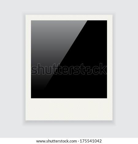 Photo frame isolated on white background (raster illustration) - stock photo