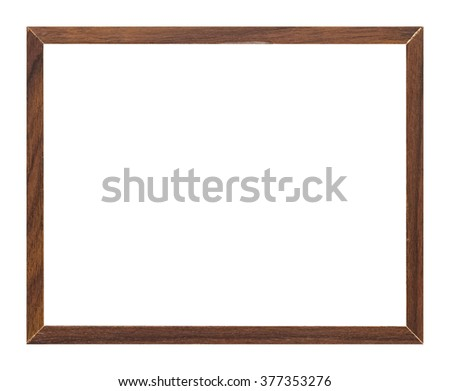 photo frame isolated on white background with clipping path