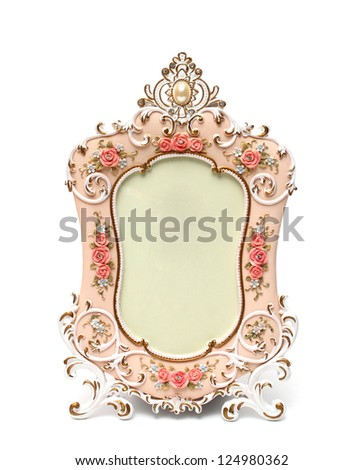 photo frame isolated white background - stock photo