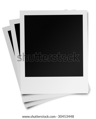 Photo frame on an isolated white background, this is a photo realistic render. - stock photo