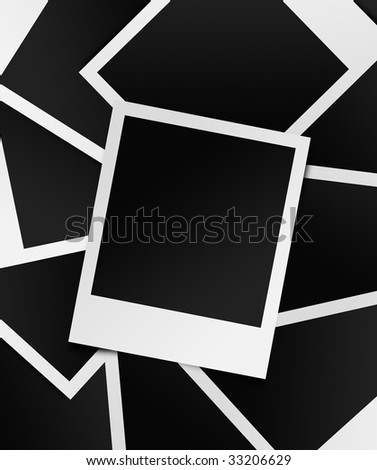 Photo frame splash in portrait - stock photo
