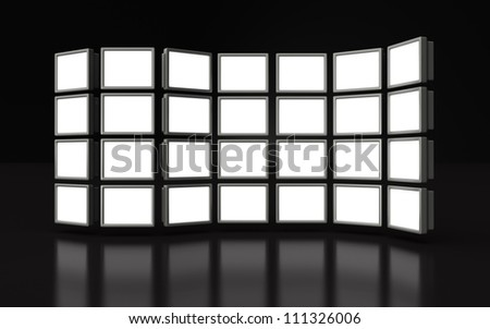 Photo frame stand display image in white space 3d illustration