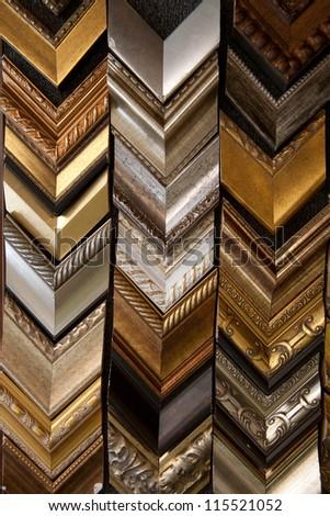 photo-frame wood sample/photo frame - stock photo