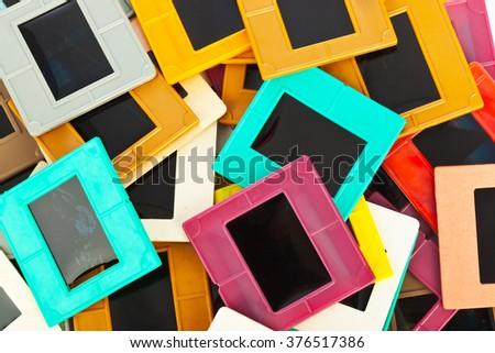 Photo frames for slide - art background - stock photo