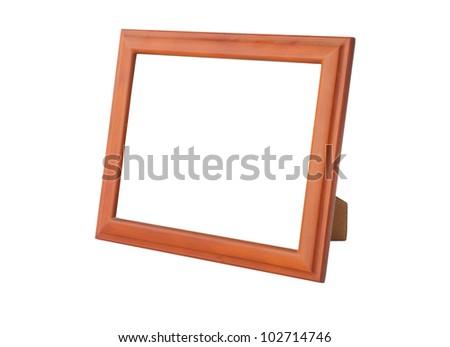 Photo frames isolated on white background - stock photo