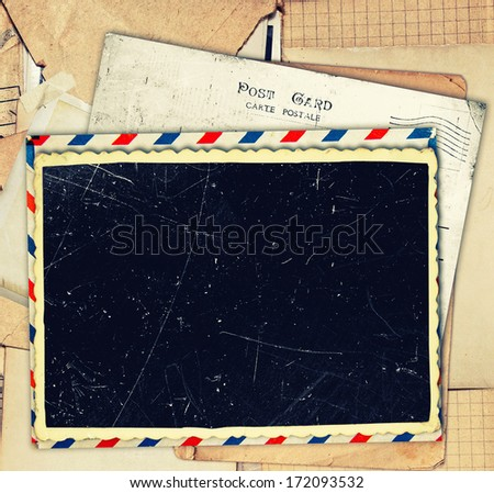 Photo frames retro background - stock photo