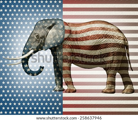 Photo illustration of an elephant �¢?? side view. - stock photo