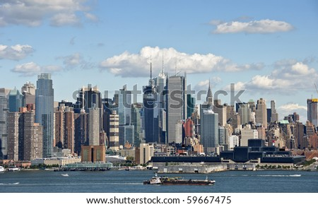 photo new york cityscape over the hudson river