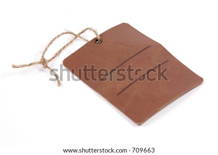 Photo of a Brown Tag