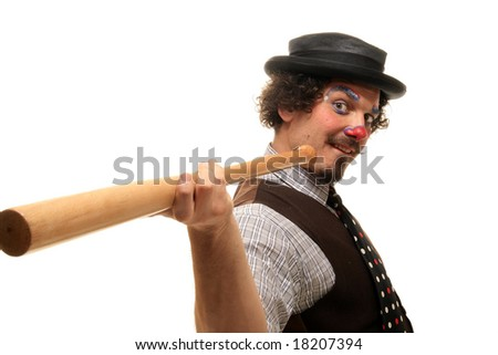 photo of a clown on the white background