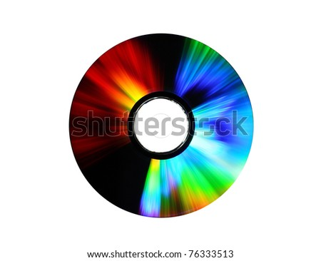 photo of a dvd on white background