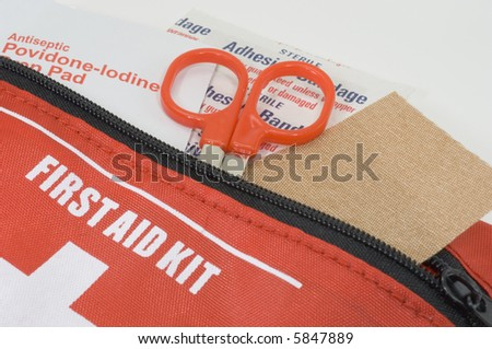 Photo of a First Aid Kit - stock photo