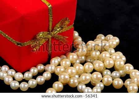 Photo of a Giftbox and Pearls