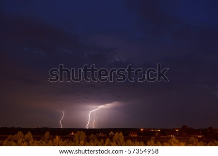 Photo of a lightning storm