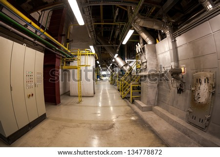 Photo of a modern industrial building - stock photo
