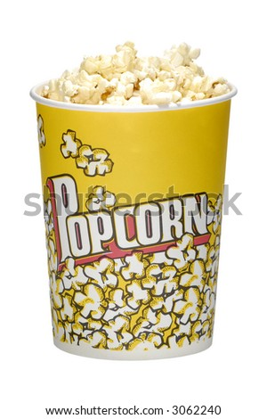 Photo of a Popcorm Bucket with Popcorn - Snack - stock photo
