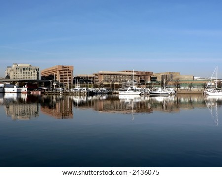 photo of a section of the SW waterfront in Washington, DC