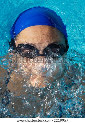 photo of a swimmer doing spring