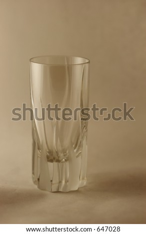 Photo of a Toned Crystal Aperitif Glass
