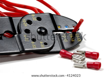 Photo of a Wire Stripper and Electrical Related Items - stock photo