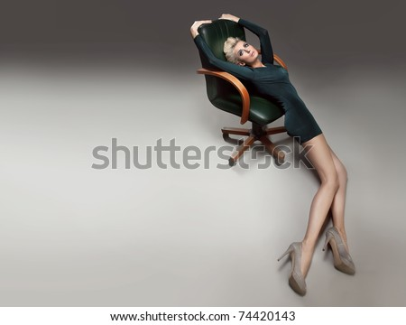 Photo of a woman on chair