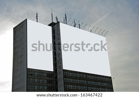 Photo of ad billboard in a city - stock photo