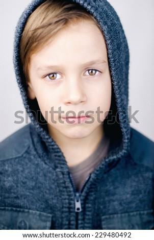 Photo of adorable young boy - stock photo