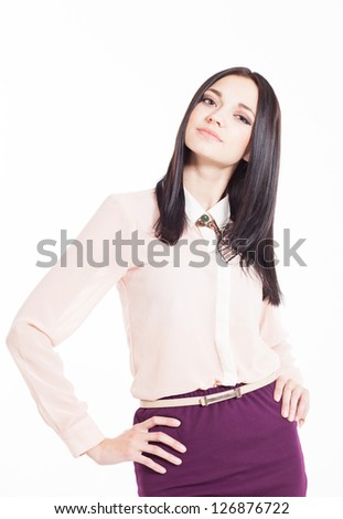 Photo of an attractive young woman - stock photo