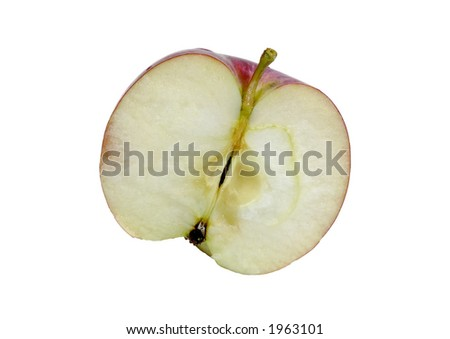 Photo of an Isolated Sliced Apple