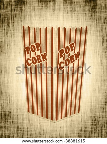 photo of an old popcorn box abstract - stock photo