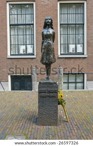 Photo of Anne Frank house in netherlands - stock photo