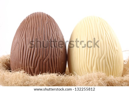 Photo of B&W Easter eggs - stock photo