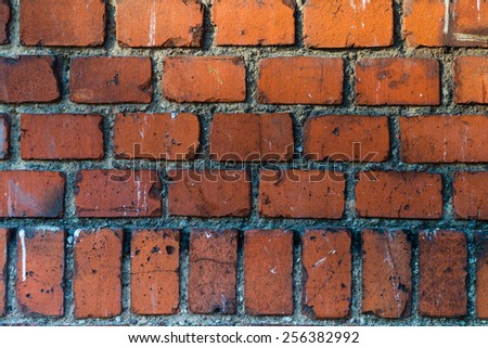 Photo of background of brick wall texture - stock photo