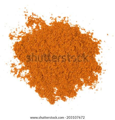 Photo of badian powder isolated on white - stock photo