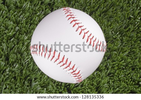 Photo of Baseball ball top view