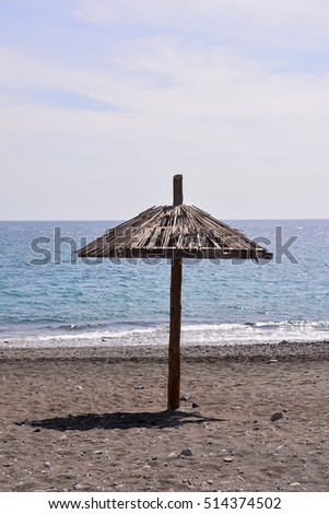 Photo of Beach Umbrella in Canary Islands Spain Europe