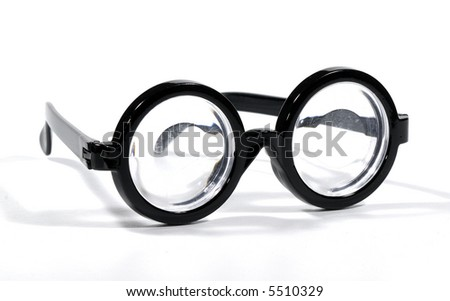 Photo of Black Rimmed Eyeglasses - Bifocals - stock photo