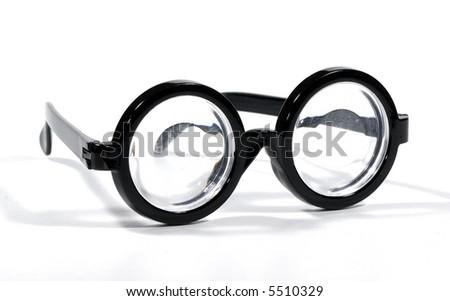 Photo of Black Rimmed Eyeglasses - Bifocals - stock photo