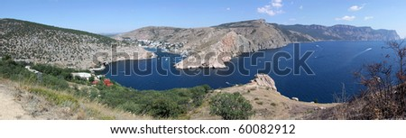 Photo of Black sea near Balaklava, Crimea. Ukraine - stock photo